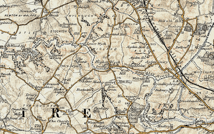 Old map of Sandholes in 1902