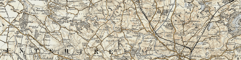 Old map of Wigland Hall in 1902