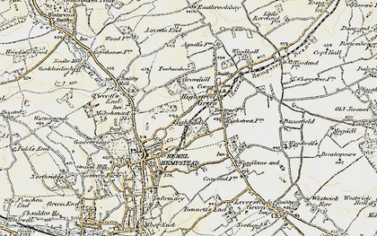 Old map of Highfield in 1898
