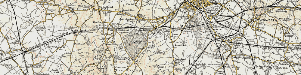 Old map of Winstanley Hall in 1903