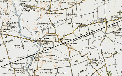 Old map of Aughton Common in 1903