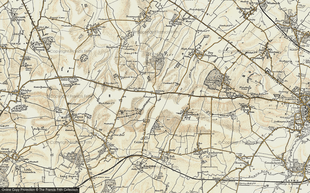Old Map of Highfields, 1899-1901 in 1899-1901