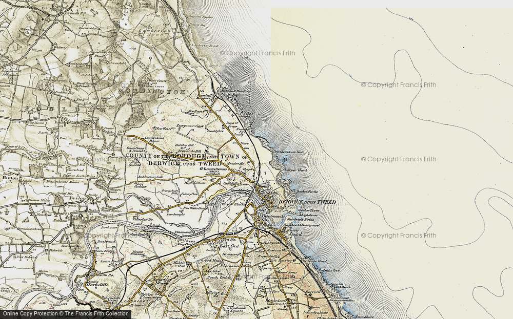 Old Map of Historic Map covering Letham Shank in 1901-1903