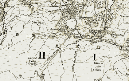 Old map of Whitefold in 1908-1912