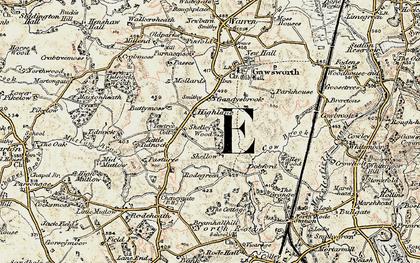 Old map of Gandysbrook in 1902-1903