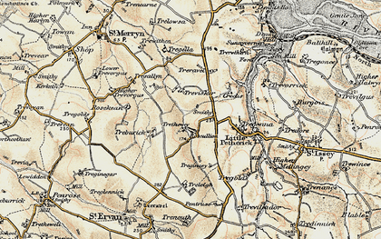 Old map of Highlanes in 1900