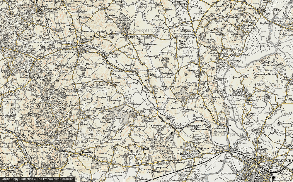 Old Map of Historic Map covering Limbury in 1898-1900
