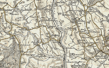 Old map of Highley in 1901-1902