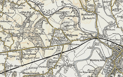 Old map of Highnam in 1898-1900