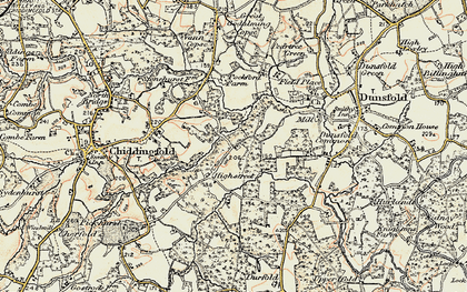 Old map of White Beech in 1897-1909