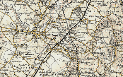 Old map of Hightown in 1902-1903