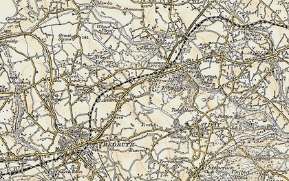 Old map of Highway in 1900