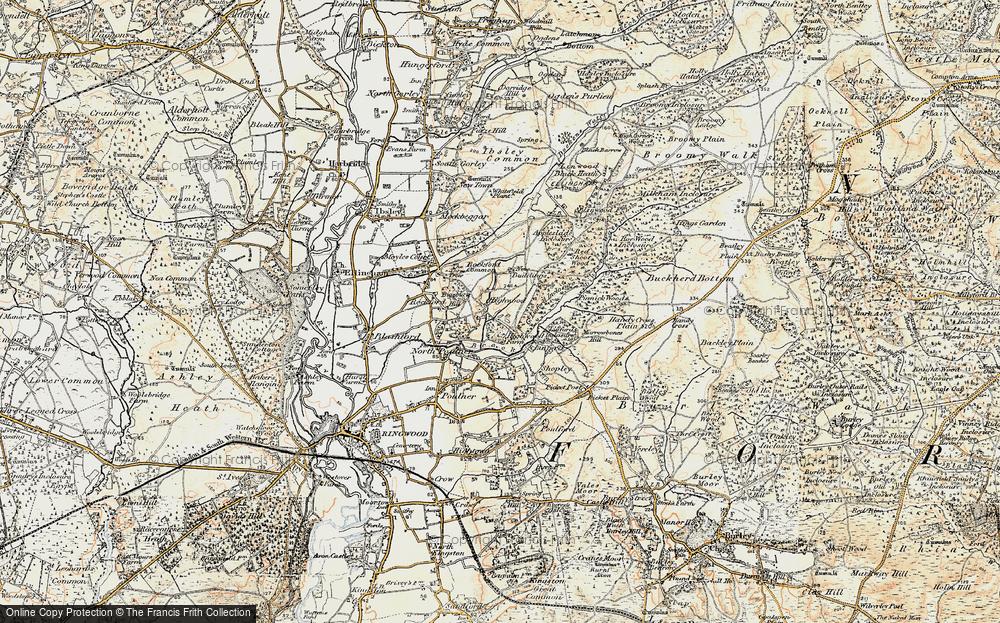 Old Map of Highwood, 1897-1909 in 1897-1909