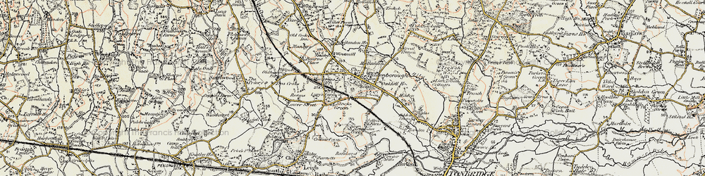 Old map of Hildenborough in 1897-1898