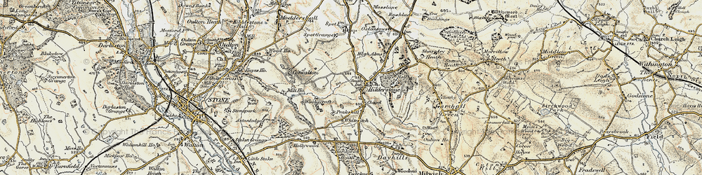 Old map of Wooliscroft in 1902