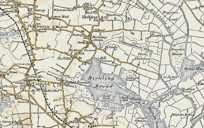 Old map of White Slea in 1901-1902