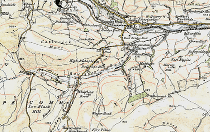 Old map of White Kirkley in 1901-1904