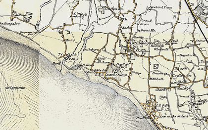 Old map of Hill Head in 1897-1899