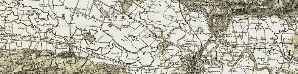 Old map of Westleys in 1904-1907