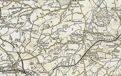 Old map of Hill Top in 1903