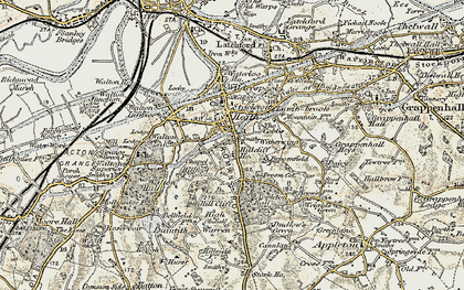 Old map of Hillcliffe in 1902-1903