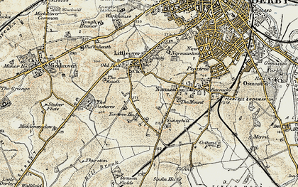 Old map of Hillcross in 1902-1903