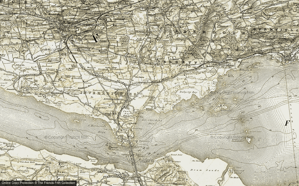 Old Map of Historic Map covering Letham in 1903-1906