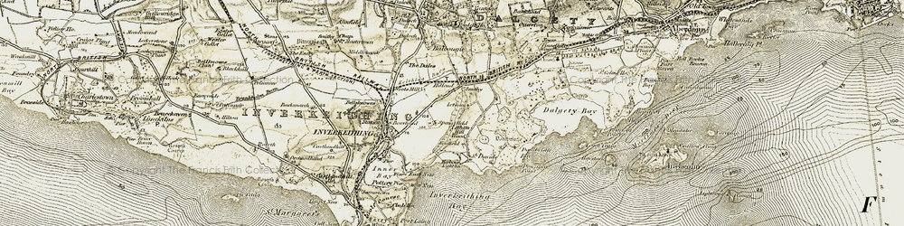 Old map of Letham Hill Wood in 1903-1906