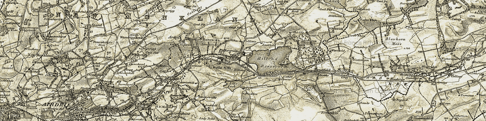 Old map of Wester Bracco in 1904-1905