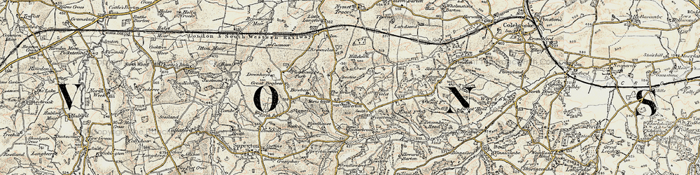 Old map of West Wotton in 1899-1900