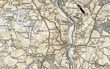 Old map of Hillhead in 1900