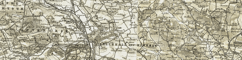 Old map of Windyfold in 1909-1910