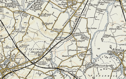 Old map of Williford in 1902