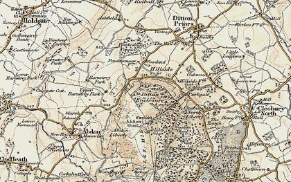 Old map of Woodend in 1902