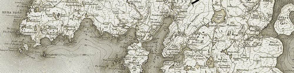 Old map of Windy Geo in 1912
