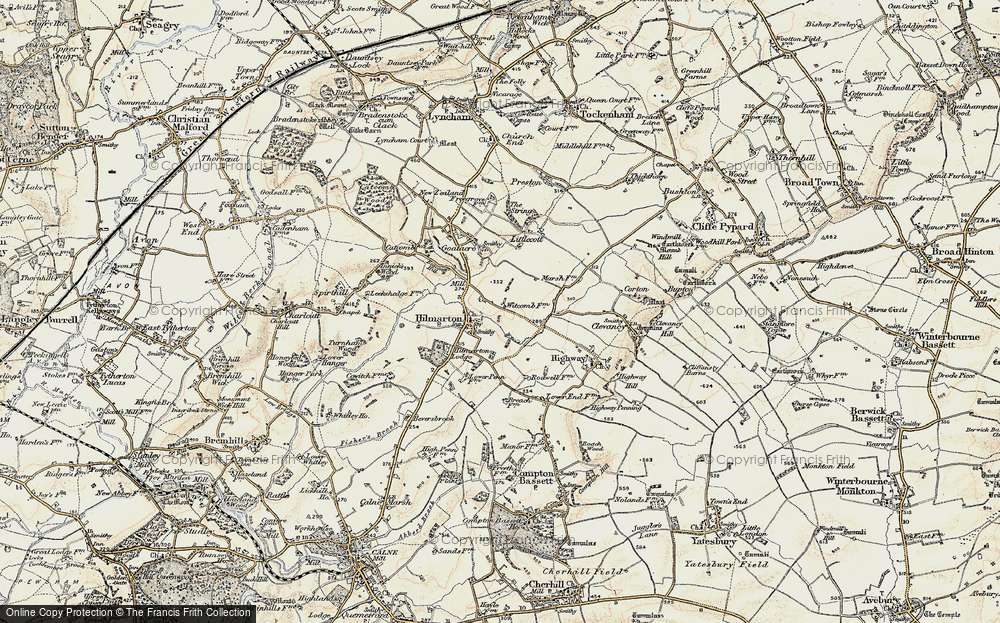 Old Map of Hilmarton, 1898-1899 in 1898-1899