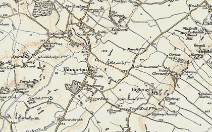 Old map of Hilmarton in 1898-1899