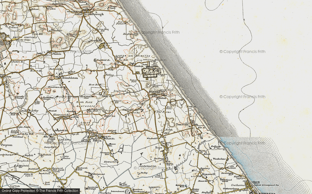 Old Map of Historic Map covering Admiral Storr's Tower in 1903-1908