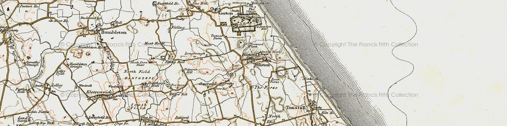 Old map of Admiral Storr's Tower in 1903-1908