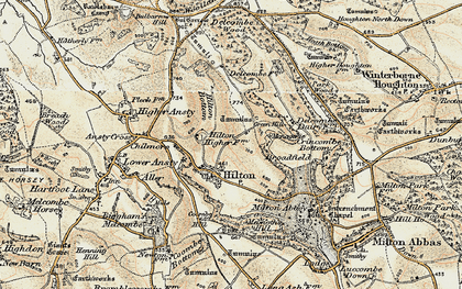 Old map of Hilton in 1897-1909