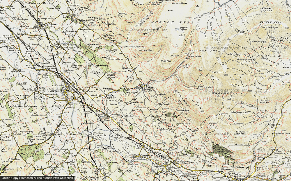 Old Map of Historic Map covering Bankwood in 1903-1904