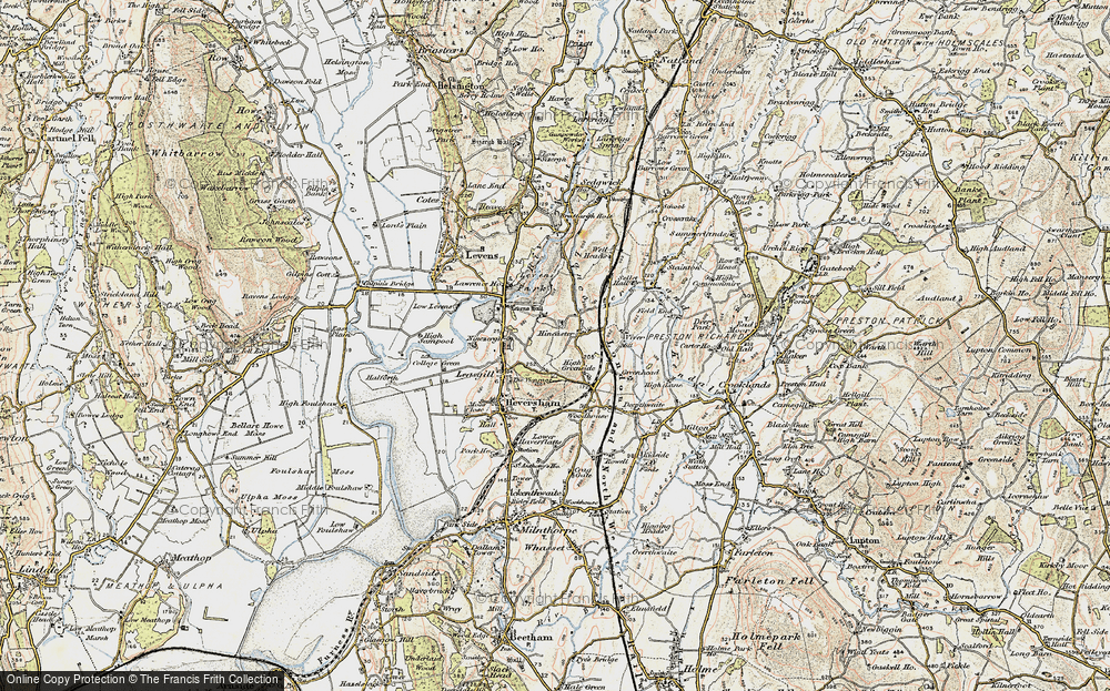 Old Map of Historic Map covering Levens Park in 1903-1904