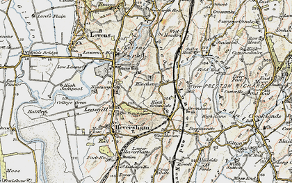 Old map of Levens Park in 1903-1904