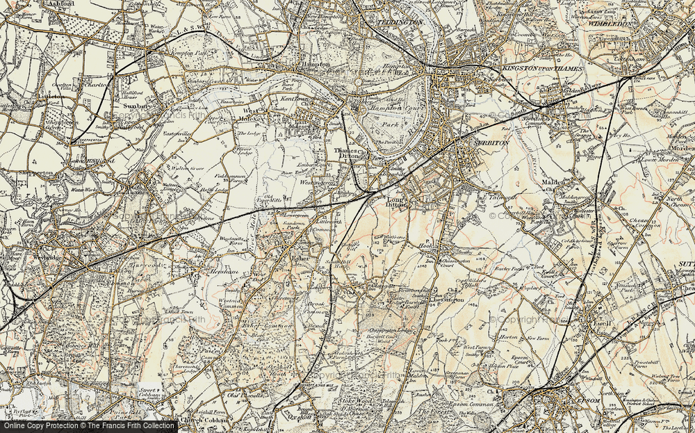 Old Map of Hinchley Wood, 1897-1909 in 1897-1909