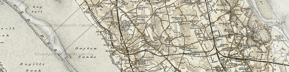 Old map of Westwood Grange in 1902-1903