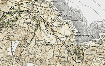 Old map of Hinderwell in 1903-1904