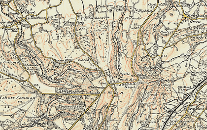 Old map of Hindhead in 1897-1909