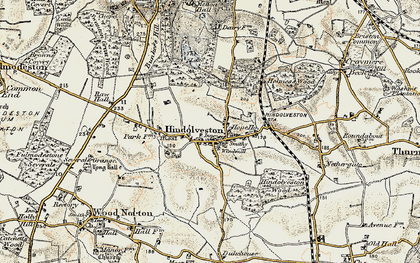 Old map of Wood Severals in 1901-1902