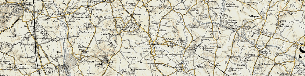 Old map of Hinstock in 1902