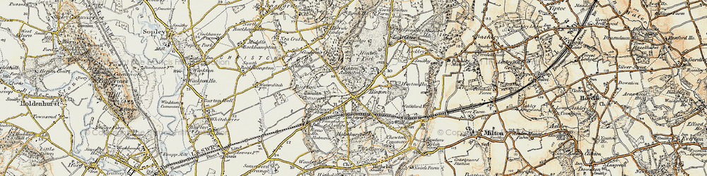 Old map of Hinton in 1897-1909